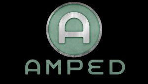 AMPED Metal LOGO Green Black RGB