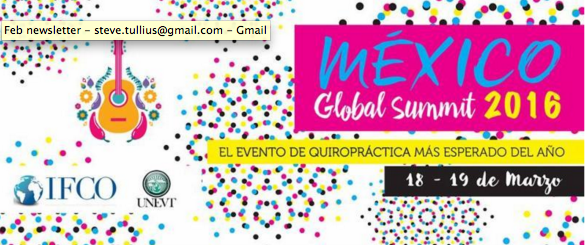IFCO Global Chiropractic Summit 2016
